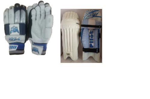 Combo of Ps pilot Batting pads legguards + Gloves