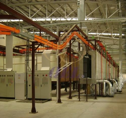 Auto Conveyor Powder Coating Plant