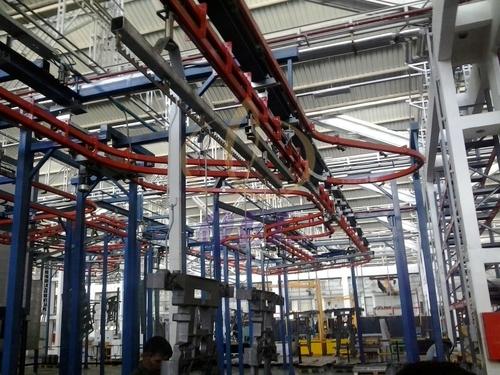 Power & Free Conveyorised Powder Coating Plant