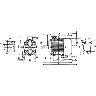 Industrial Mounted Motors