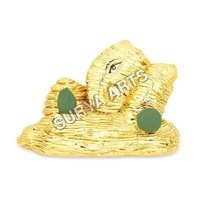 Gold Plated Relaxing Ganesha