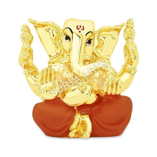Gold Plated Ganesha Statues