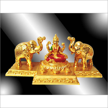 24 K Gold Plated Gajantlaxmi