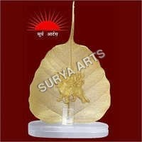 Gold Plated Peepal Leaf