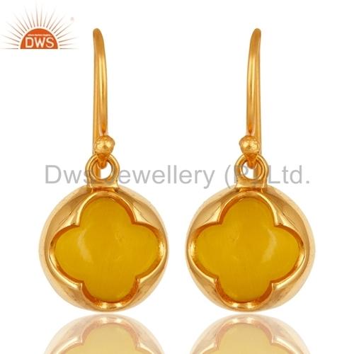 Yellow Moonstone Designer Earrings