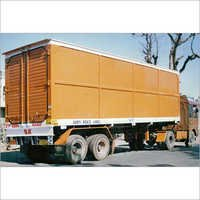 14 Wheels Dry Container Truck