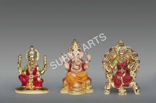 Gold Plated Laxmi Idols