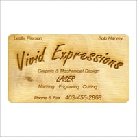 Wooden Business Cards Engraving
