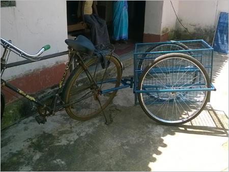 Bicycle Behind Trailers