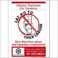 Child Labour Posters And Signages