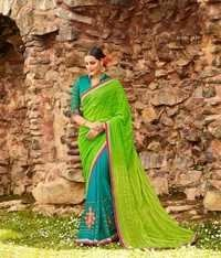 Wedding Wear Green Stylish Saree