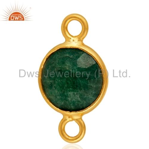 Emerald Green Corundum Connectors