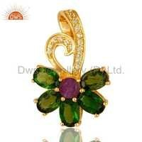 Peridot, Amethyst & Chrome Dispose Pendant