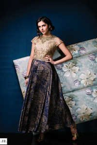 Blue Stylish Anarkali Georgette Suit