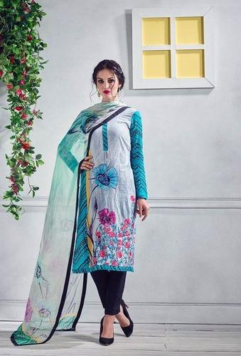 Multi Color Lovely Glaze Cotton Stylish Suit