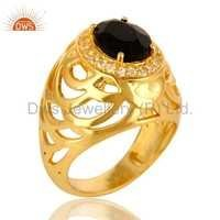 925 Silver Gold Wedding Ring