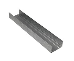 Gypsum partition channels