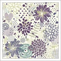 Abstract Floral Seamless Pattern Fabrics