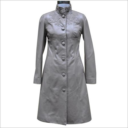 Women Leather Overcoats
