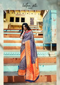Designer Exclusive Katan Silk Saree