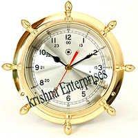 Brass Wheel Clock