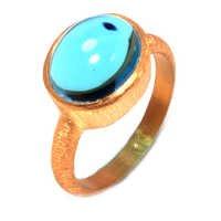 Landon Blue Topaz Gemstone Ring- vermeil Gold