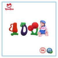 Double Colors Silicone Baby Teether