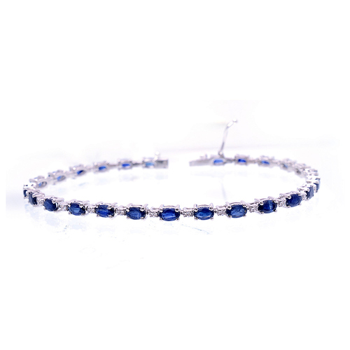 Faceted Sapphire Gemstone Bracelate/Bangle