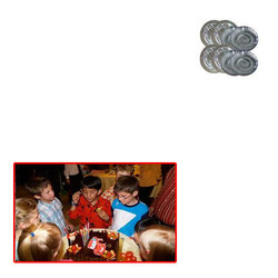 Silver Paper Dishes for Party