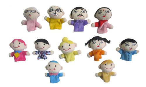 Assorted Faces Finger Puppet