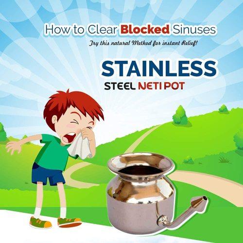 Steel Jala Neti Pot
