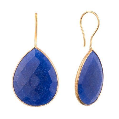 lapis lazuli Gemstone Earring - vermeil Gold