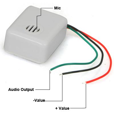 CCTV Audio Mic Self Adhesive