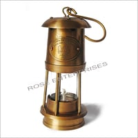 Antique Vintage Style Brass Nautical Miner Ship Lantern Oil Lamp
