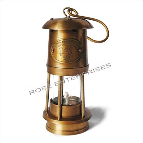 Antique Vintage Style Brass Nautical Miner Ship Lantern Oil Lamp