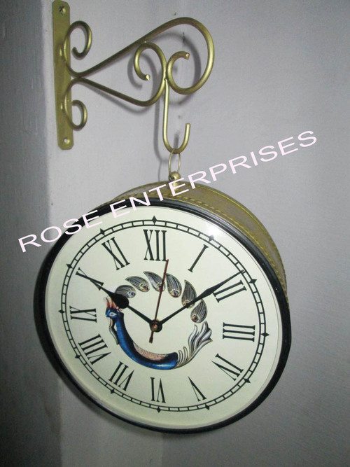 Railway clock with Hanging Stand