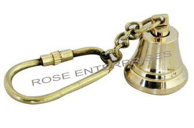 Brass Key Ring/Chain Bell