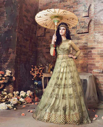 Light Green Stone Work Salwar Suit