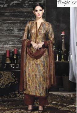 Multi Color Designer Pashmina Silk Suit