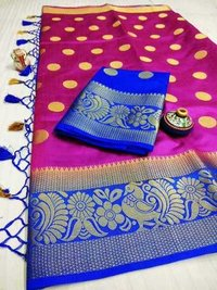 Traditional Tussar Art Silk Saree