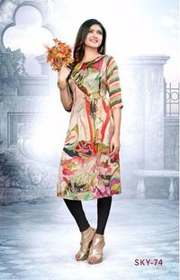 Swarnapankh Cotton Digital Printed Kurti