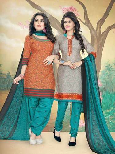 Buy 100% Pure Cotton Dress Material Catalog at Set
