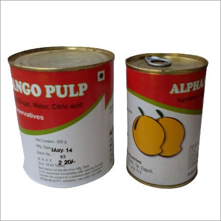 Canned Alphonso Mangopulp