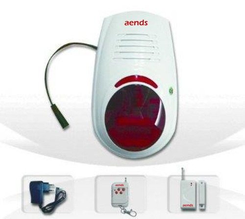 Burglar Alarm System With Battery Backup