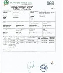 Nigeria Conformity Assessment Program (soncap) Com