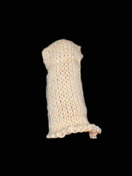 White Cotton Knitted Finger