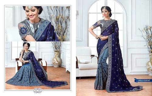 Sequence work net sarees