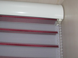 Folded Designer Zebra Roller Blinds