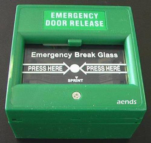 EMERGENCY door realease-Break Glass model