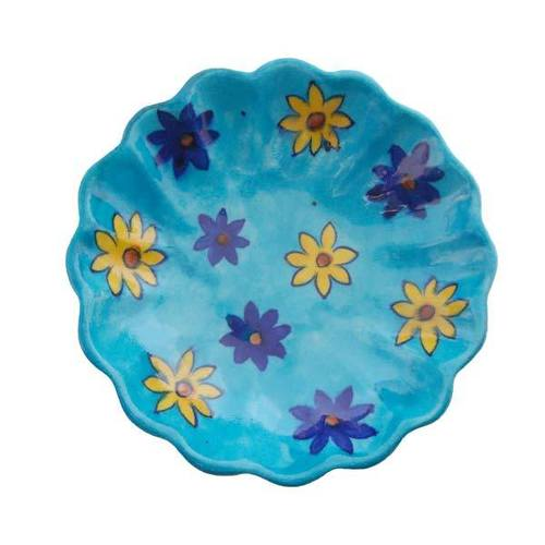 Blue Pottery Plate